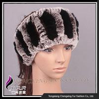 CX-E-37T New Style Natural Knitted Rex Rabbit Fur Headband