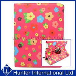 Floral Garden Rotating Tablet Case For iPad 4