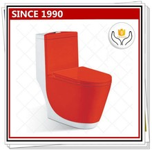 1003R Colored Ceramic One Piece Toilet with Red and White Color
