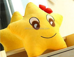 Plush cushion or pillow-five-pointed star, Customised toys,CE/ASTM safety stardard