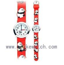 Panda/frog/dog/deer/duck silicone 3D unique kids children animal wrist watch