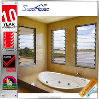 Australian standard air flow fixed aluminium shutter glass louver windows