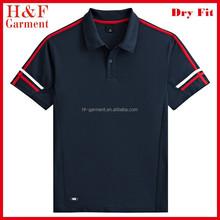 Cheap uniform polo shirts for men in navy blue custom logo