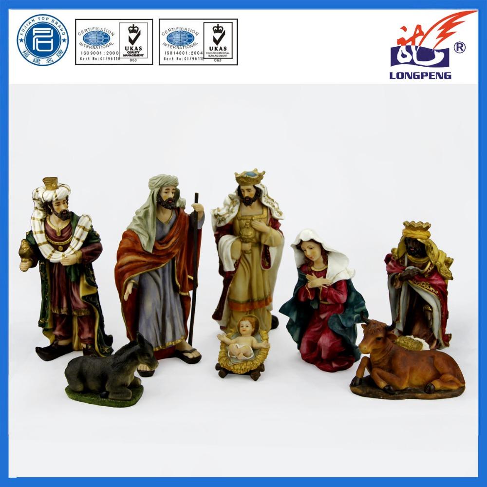 Il mio Primo Presepe Figure,Resina Presepe di natale Figurine Set,Scena Di Natale Three Kings Presepe Figure Del Bambino gesù