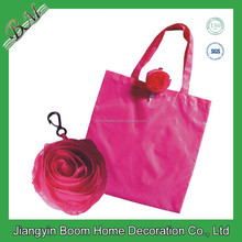 Eco Reusable Promotional Flower Shape Bag / Cute Rose Foldable Bag/ Foldable Rose Shopping Bag