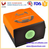 Customized paper food box with handle for mousse cake packaging