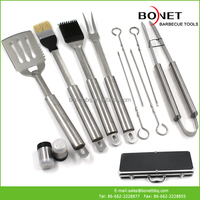 QAS0056 Competitive Price Stainless Steel Handle BBQ Tools