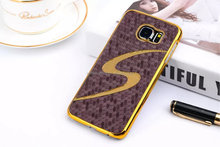 New arrival golden metal shell case s shaped phone case football team phone case