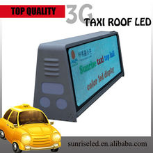 3G/wifi/GPS pantalla publicitaria para taxi/ Sunrise P6 outdoor full color double sided led taxi top advertising/taxi roof top