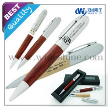 Wooden with metal pen drive and ballpoint pen , best electronic christmas gifts 2014