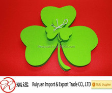 Patrick Day Felt Coaster Shamrock Designs Set of 4 Felt 4 mm