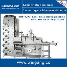 Label / Paper flexo printing and die cutting machine