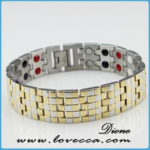 2015 New design fashion energy bracelet to release pain and pressure titanium magnetic bracelets health benefits