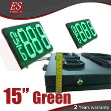 "high brightness 15inch green ip65 waterproof led fuel price signs W47"" x H17"""