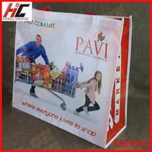 Yiwu manufacturer cheap printed recyclable non woven bag fashion pp laminated shopping bag