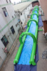 New popular inflatable city water slide, Summer giant slick slide, 300m length slip N slide for water party event