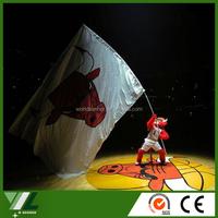 NBA Chicago Bulls big flying flag with fiberglass flag pole