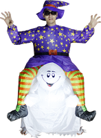 hollaween and easter inflatable ghost costume for adults--24526