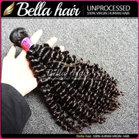 Bella human hair pieces Factory Price Brazilian curly hair weaving double sided tape for hair extensions