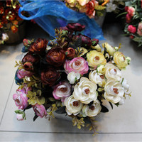 Artificial Charming rosel peony flower for wall wedding flowers home hotels garden decorative
