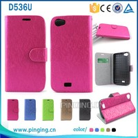 New products Gird pattern leather case folio cover for Blu Studio 5.0C with stand