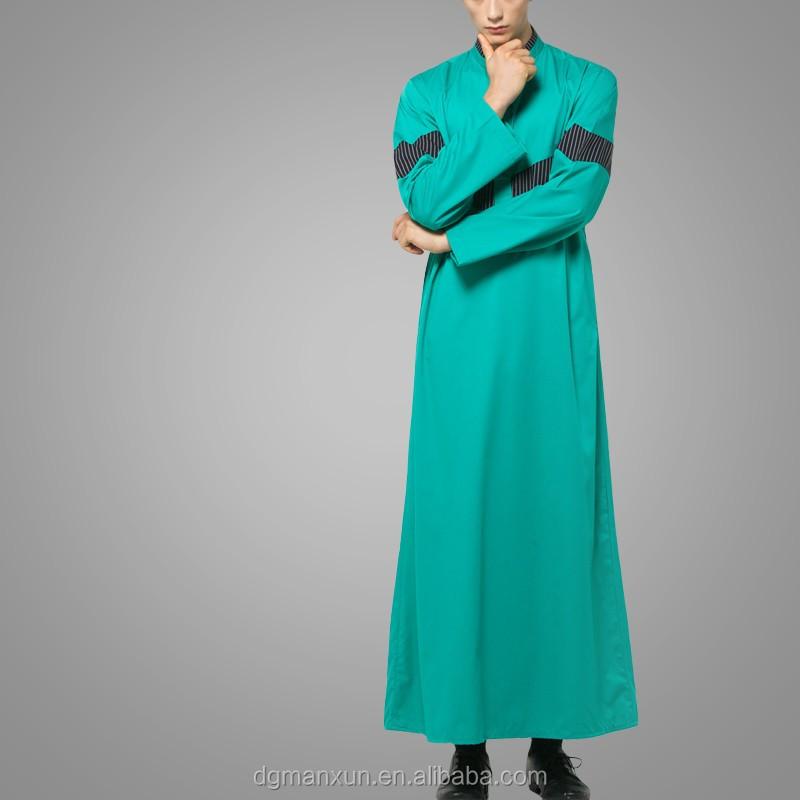dgManxun Muslim High Quality Men Arab Thobe Wholesale Men Saudi Thobe  Awwal Thobe Fly Series Green (2).jpg