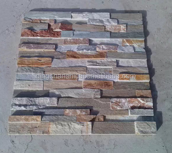 Exterior Decorative Wall Cladding Stack Natural Slate Stone Siding Veneer View Wall Stone