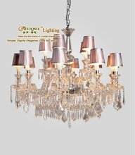 Large Venetian Crystal Chandelier Pendant Lamp On Sale, Popular Hotel Stair Light, Murano Glass Crystal Chandelier