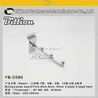 YB-C060 2016 good qulity slatwall display hook clothing hook chrome bra hook