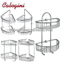 brass bathroom dual tier hanging wire storage baskets