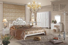 Wedding Bedroom furniture with leather on panels