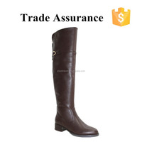 low heel rubber outsole knee high boots women