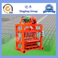 Latest technology best selling products QTJ4-40 concrete hollow block machine