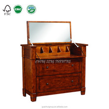 DR3001 Piano modeling Canadian maple wood dressers on sale with two drawers