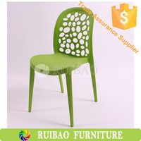 Ergonomic Bubble Back PP Dining Chair Stacking Chair