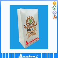 white kraft food grade paper bag for fried food