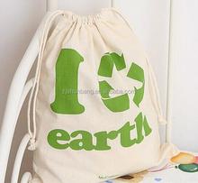 cotton canvas shopping bag/ cotton canvas drawstring bag/ personalised girls gym school drawstring cotton