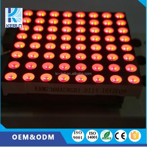 Semi-outdoor RGB 8X8 dot array 60x60mm größe led dot-matrix-display für bus taxameter display