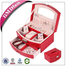 trade assurance PU leather jewelry box christmas gift ideas for friends