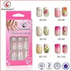 New design 3D french full cover tips artificial nail tips fake nail for ladies