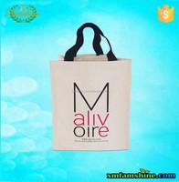 recyle cotton bottle wine tote bag