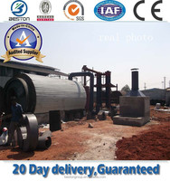 High Efficiency Waste Tyre Recycle Oil Plant,waste plastic LDPE HDPE PP ABS car truck used tire changer oil
