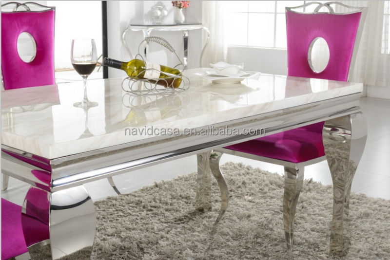 Wholesale A8028 Wholesale White Marble 8 Seater Dining Table And Chair Alib