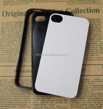 2D blank sublimation cases for iphone 5 5s, hard plastic case, removable back shell, black and white colors