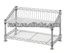 Adjustable 2 Tiers Chrome Shelf---s