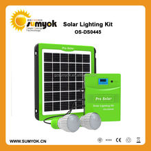 2015 new designed 5W mini solar energy system with 4500mAH lead acid battery and mobile phone charger for promotion