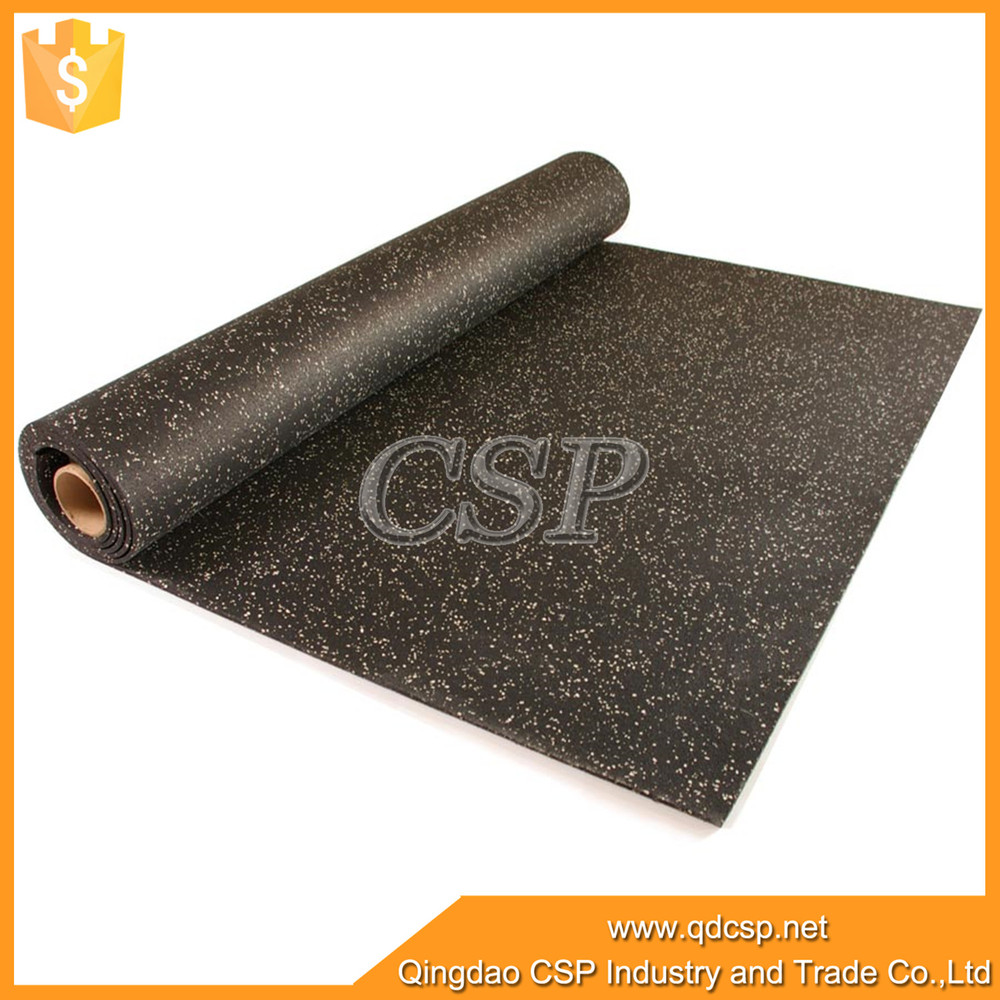 Made In China Crossfit Rubber Floor Mat Black With Epdm