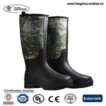 2016 New Product Custom Logo Cheap Camo Neoprene Hunting Rain Boots