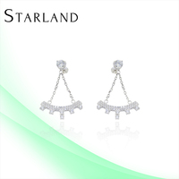 Starland Silver Jewelry Pictures Of Earring For Girls CAE1106