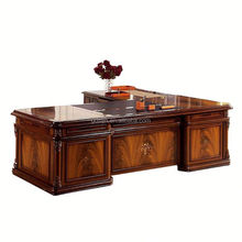 2015 Spanish style office desk set with MDF wood table for manager office